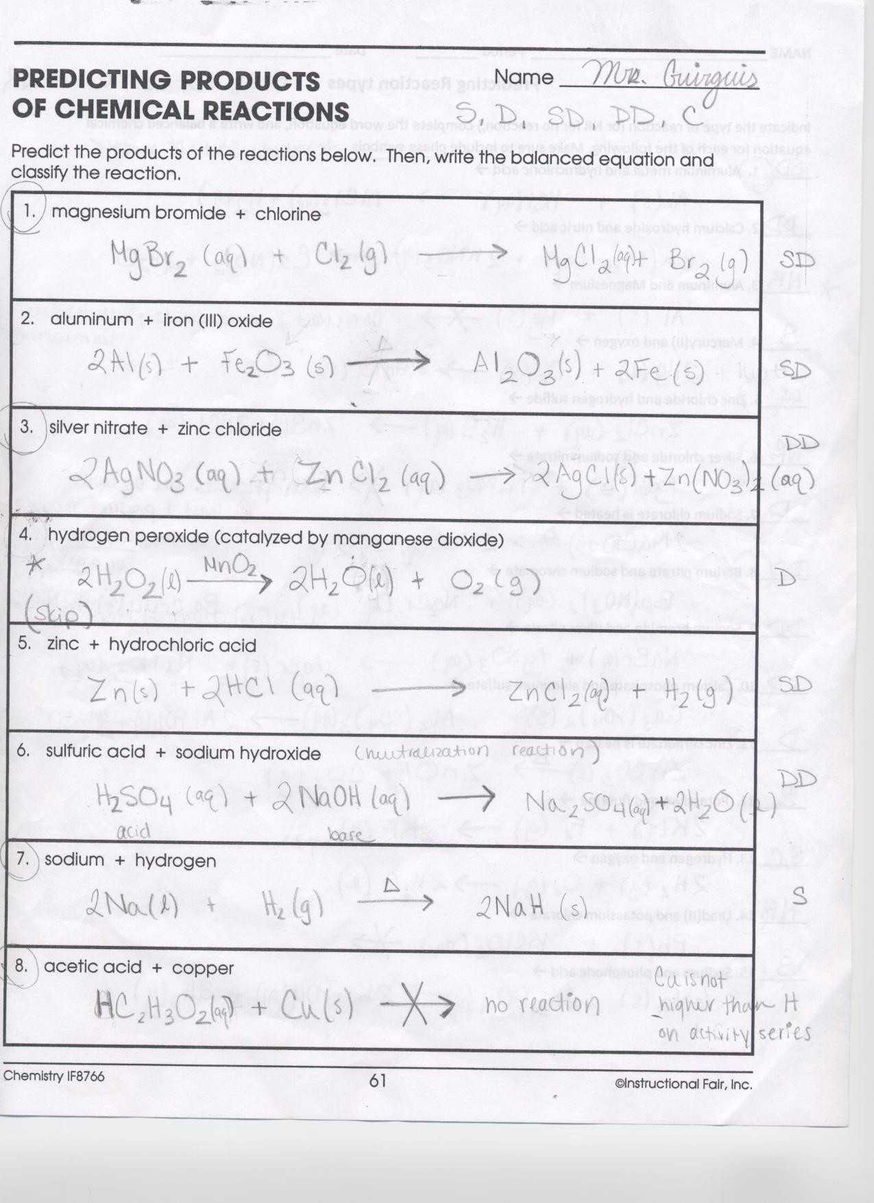 Neutralization Reactions Worksheet Along with Oxidation Reduction Reactions Worksheet Gallery Worksheet for Kids