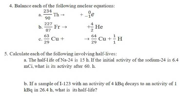 Nuclear Equations Worksheet with Answers Along with Nuclear Equations Worksheet with Answers Awesome Chemistry Archive