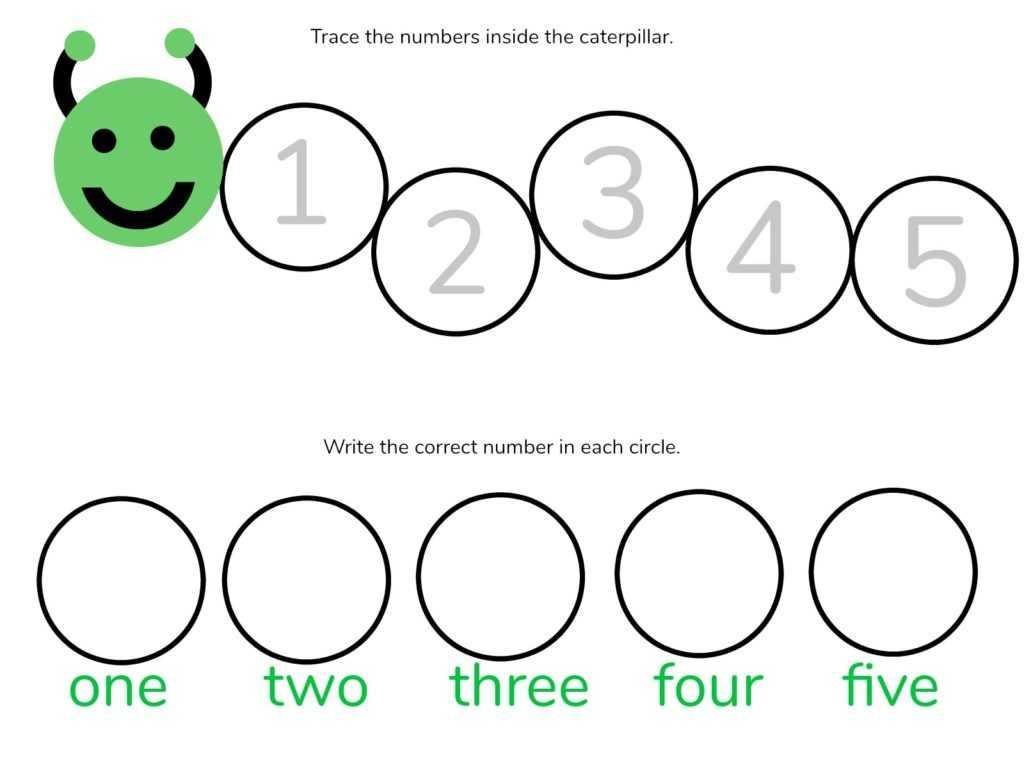 Number Tracing Worksheets 1 100 or Caterpillar Math Free Printable Preschool Worksheets Number