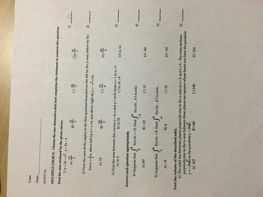 Ohm's Law Worksheet Answers Along with solved Exam Name Math 5a Multiple Choice Choose the E