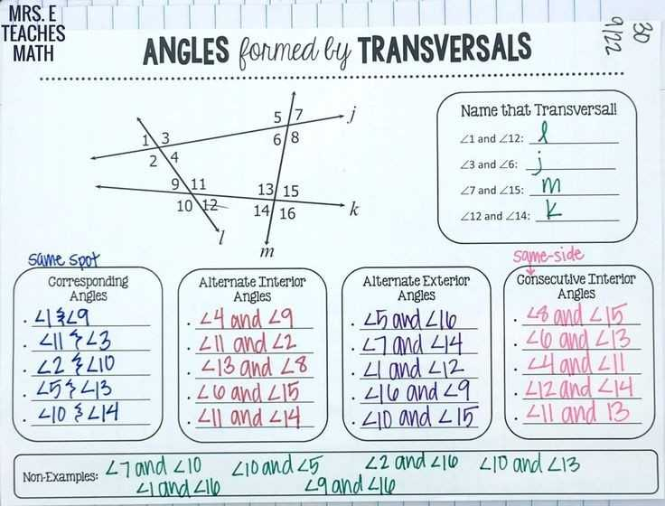 Parallel Lines Cut by A Transversal Worksheet Answer Key Along with Parallel Lines and Transversals Worksheet Inspirational 35 Handy
