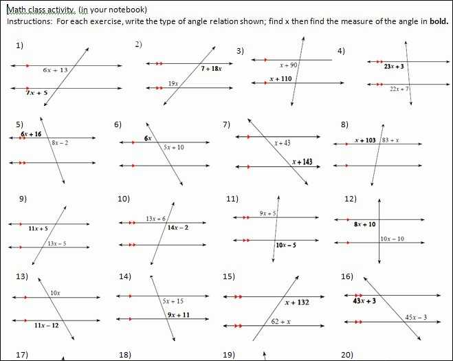 Parallel Lines Cut by A Transversal Worksheet Answer Key and Parallel Lines and Transversals Worksheet Inspirational 35 Handy
