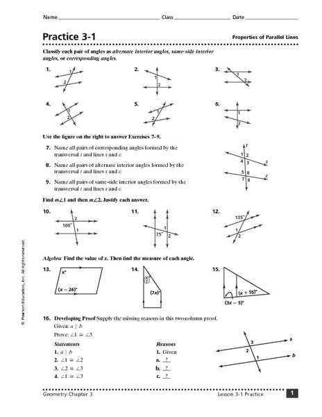 Parallel Lines Cut by A Transversal Worksheet Answer Key or Geometry Parallel Lines and Transversals Worksheet the Best
