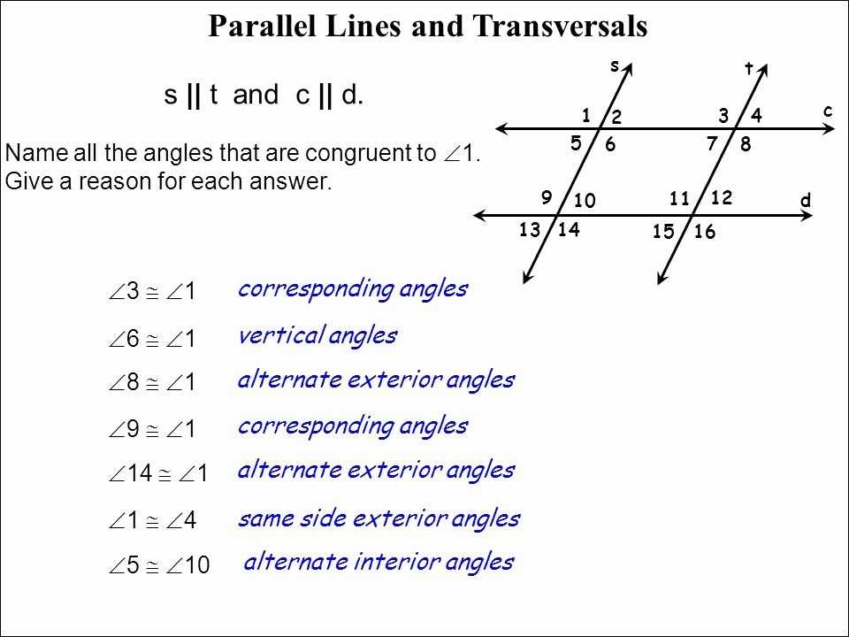 Parallel Lines Cut by A Transversal Worksheet Answer Key with Parallel Lines and Transversals Worksheet Inspirational 35 Handy