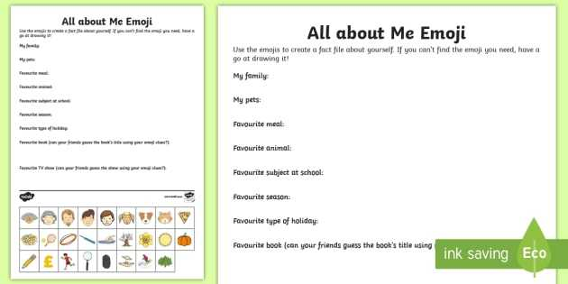 Personal Hygiene Worksheets Middle School Along with Ks2 Emoji All About Me Worksheet Activity Sheet Ourselves