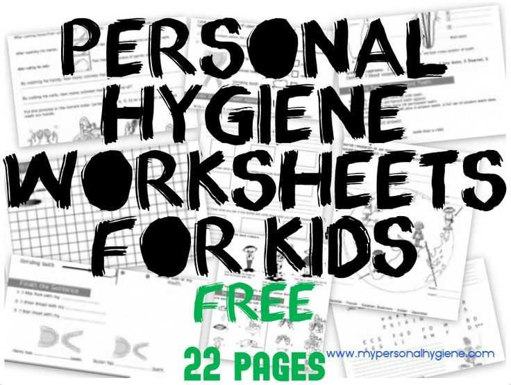 Personal Hygiene Worksheets Middle School Also Personal Hygiene Worksheets for Kids for Kids 3 Levels Of