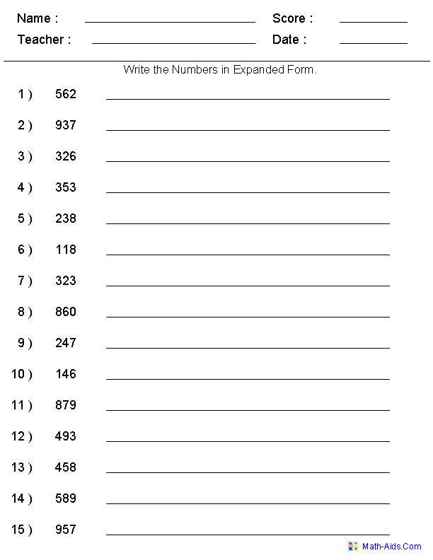 Place Value Worksheets Grade 5 or Expanded form Math 2nd Grade aslitherair