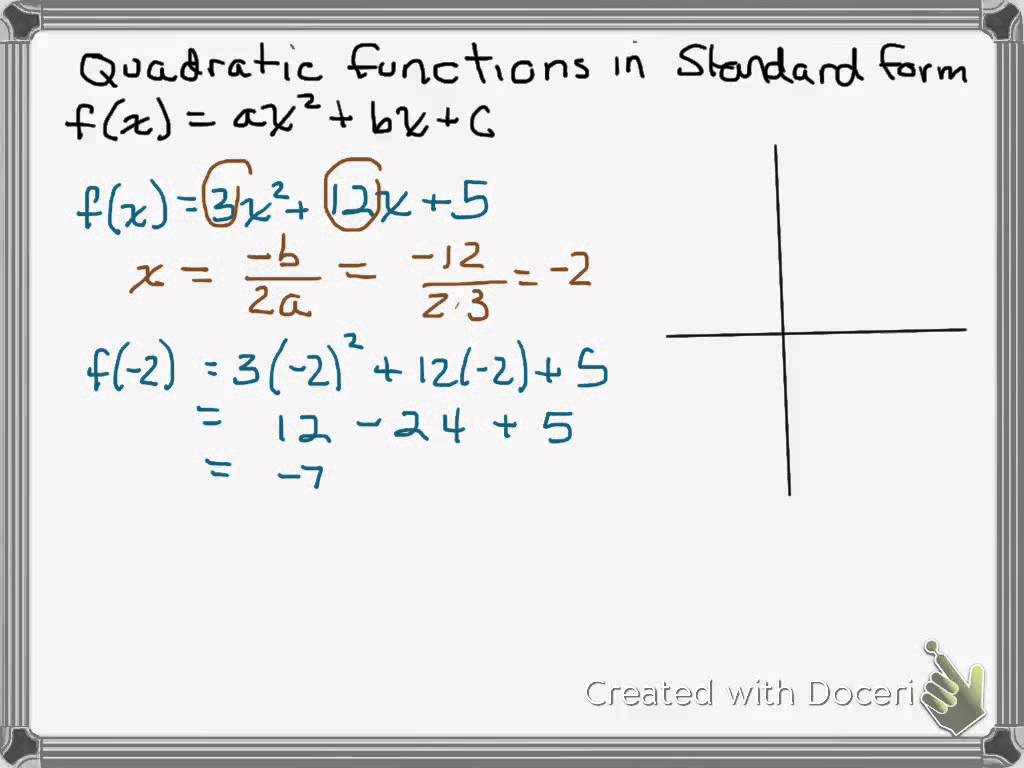 Practice Worksheet Graphing Quadratic Functions In Vertex form Answers Also Vertex form to Standard form Downloader