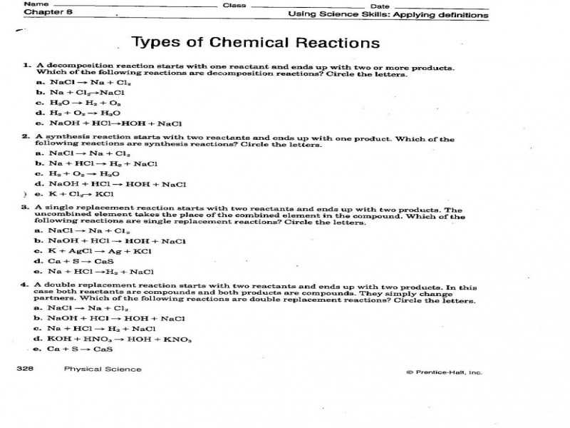Predicting Products Of Chemical Reactions Worksheet with Worksheets 45 Re Mendations Predicting Products Chemical
