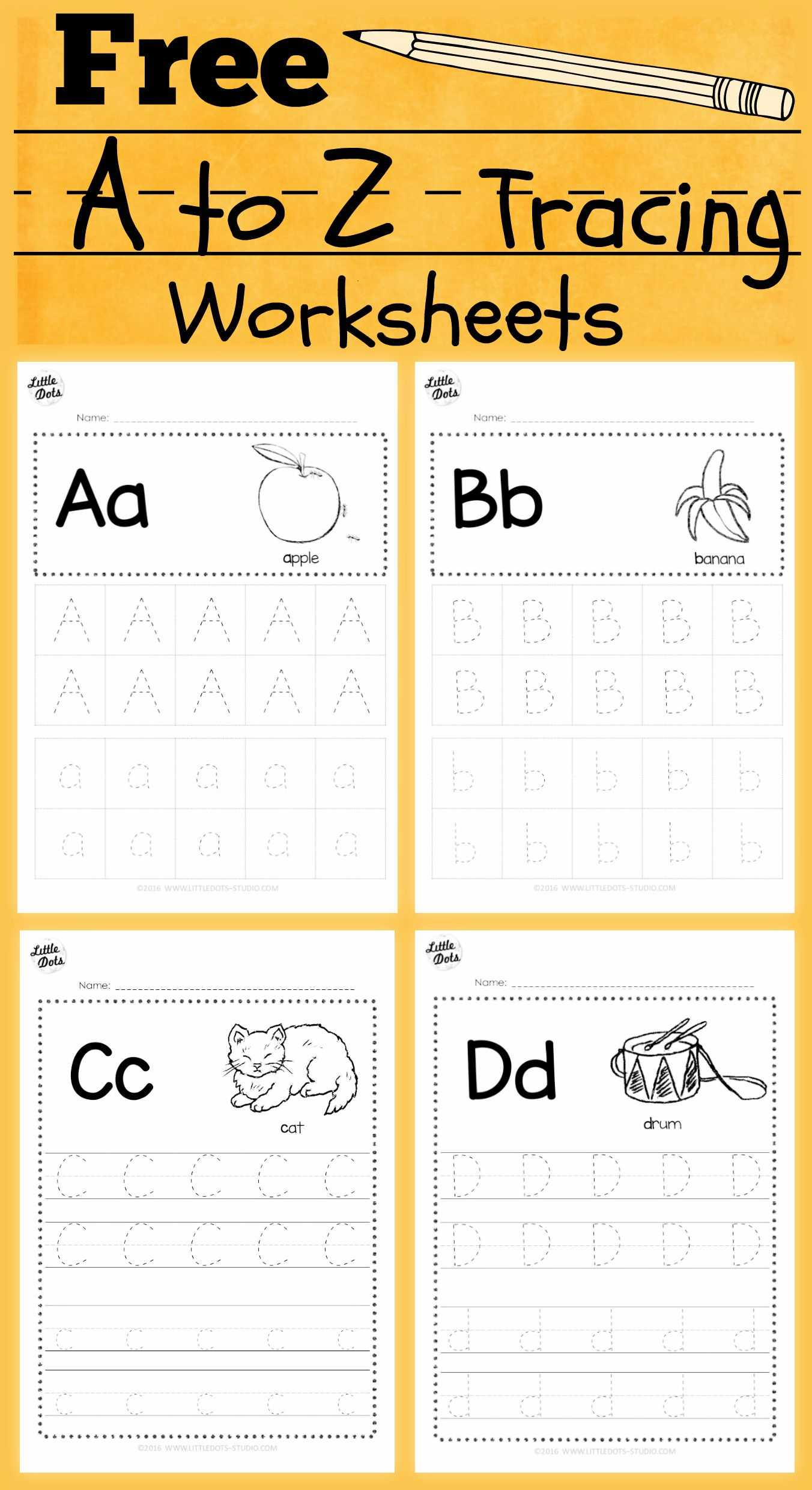 Preschool Name Tracing Worksheets Also Download Free Alphabet Tracing Worksheets for Letter A to Z Suitable