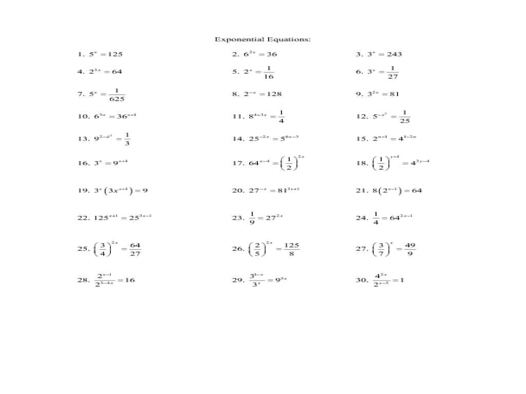 Quadratic Transformations Worksheet Also Exponential Function Worksheet Worksheet Math for K