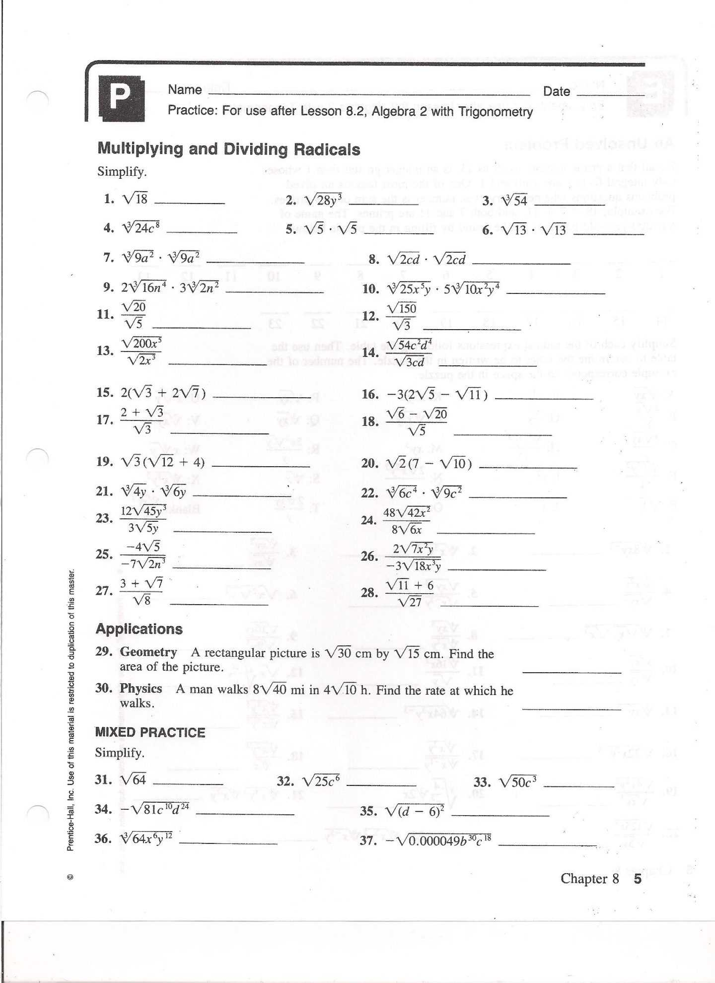 Radicals and Rational Exponents Worksheet Answers Along with Simplifying Rational Expressions Worksheet with Answers