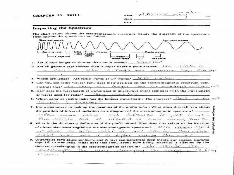 Radioactivity Worksheet Answers or Inspirational Electromagnetic Spectrum Worksheet Awesome