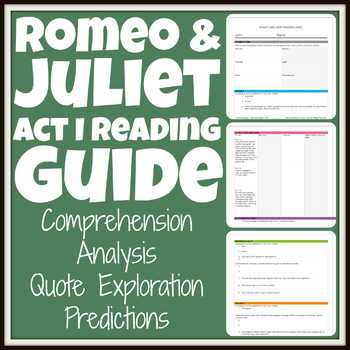 Romeo and Juliet Act 1 Vocabulary Worksheet Answers Also Romeo and Juliet Act 1 Activities Teaching Resources