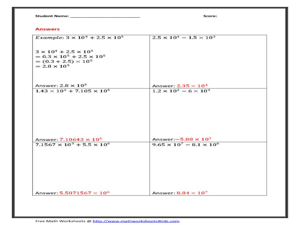Scientific Notation Worksheet Chemistry together with Kindergarten Scientific Notation Division Worksheet
