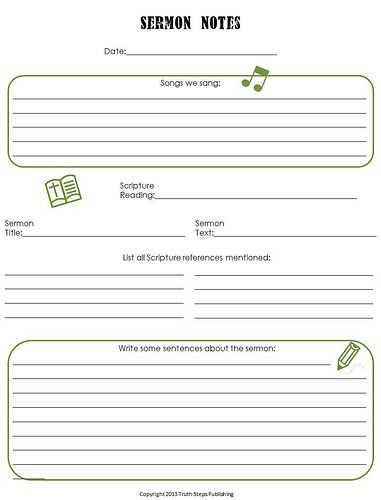 Sermon Preparation Worksheet or 19 Best Kids Sermon Notes Images On Pinterest