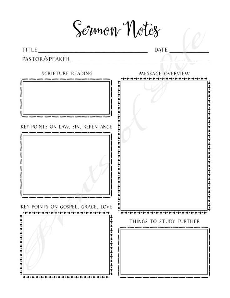 Sermon Preparation Worksheet with 10 Best Church Notes Images On Pinterest