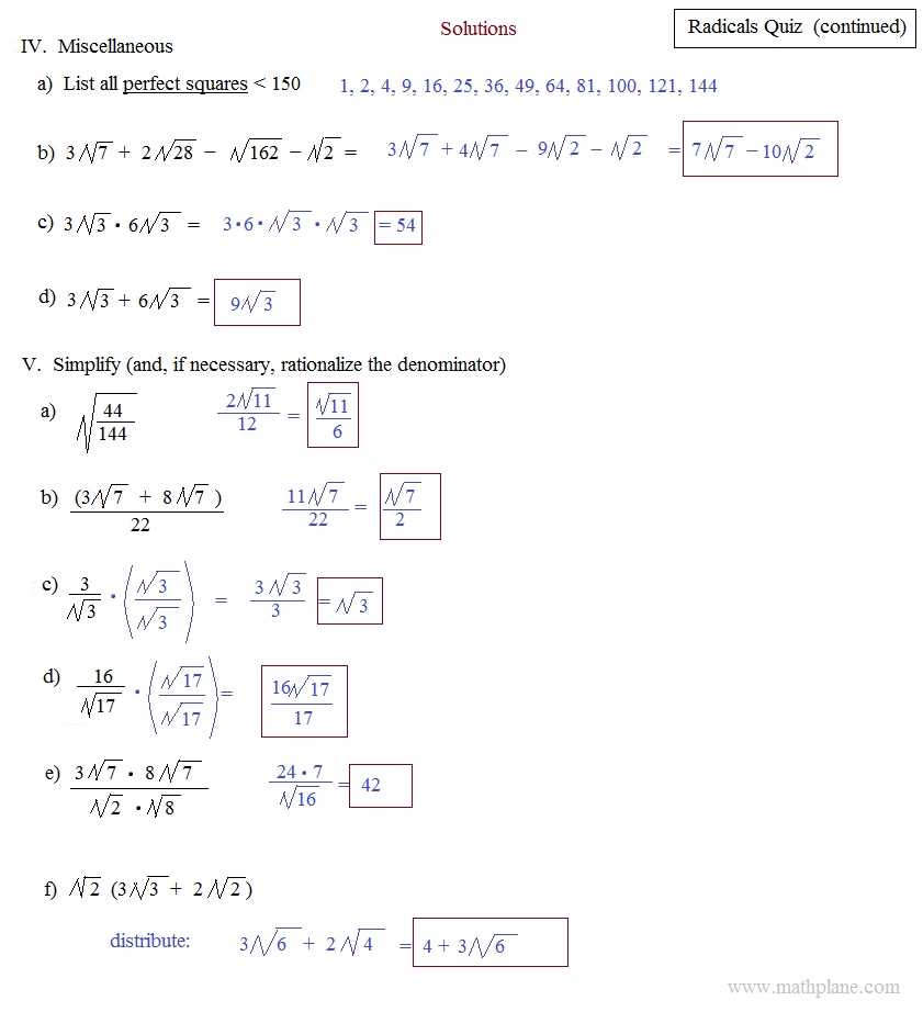 Simplifying Radical Expressions Worksheet Answers or Operations with Radicals Worksheet Worksheet Math for Kids
