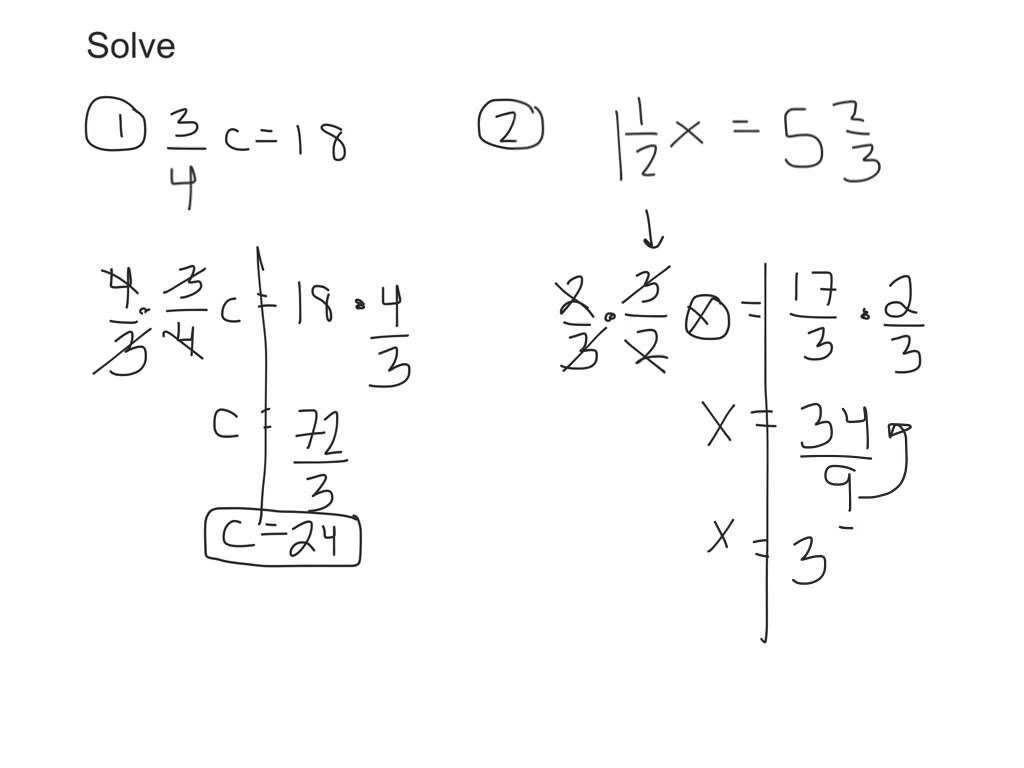 Solving Linear Equations With Fractions Worksheet Kuta