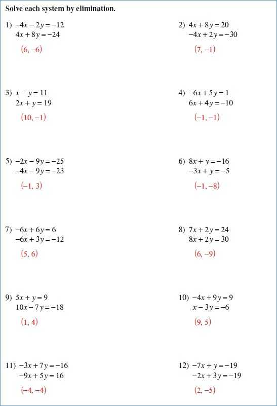 Solving Systems Of Equations by Elimination Worksheet Pdf as Well as 2 Step Equation Worksheets