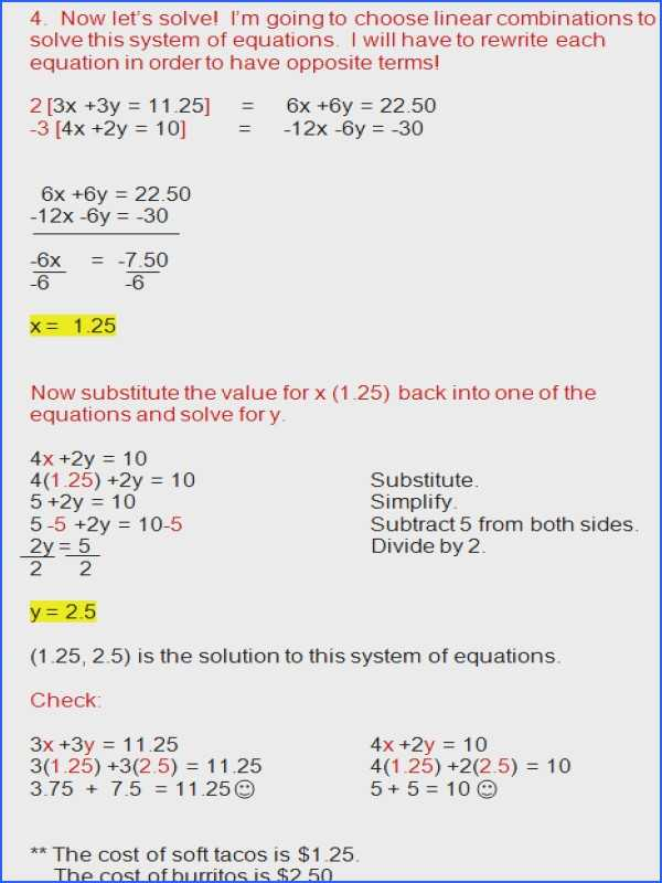 Solving Systems Of Equations by Substitution Word Problems Worksheet and Systems Linear Equations Worksheet
