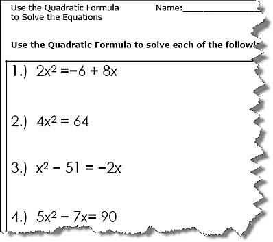 Solving Using the Quadratic formula Worksheet Answer Key Also Use the Quadratic formula to solve the Equations Quadratic formula