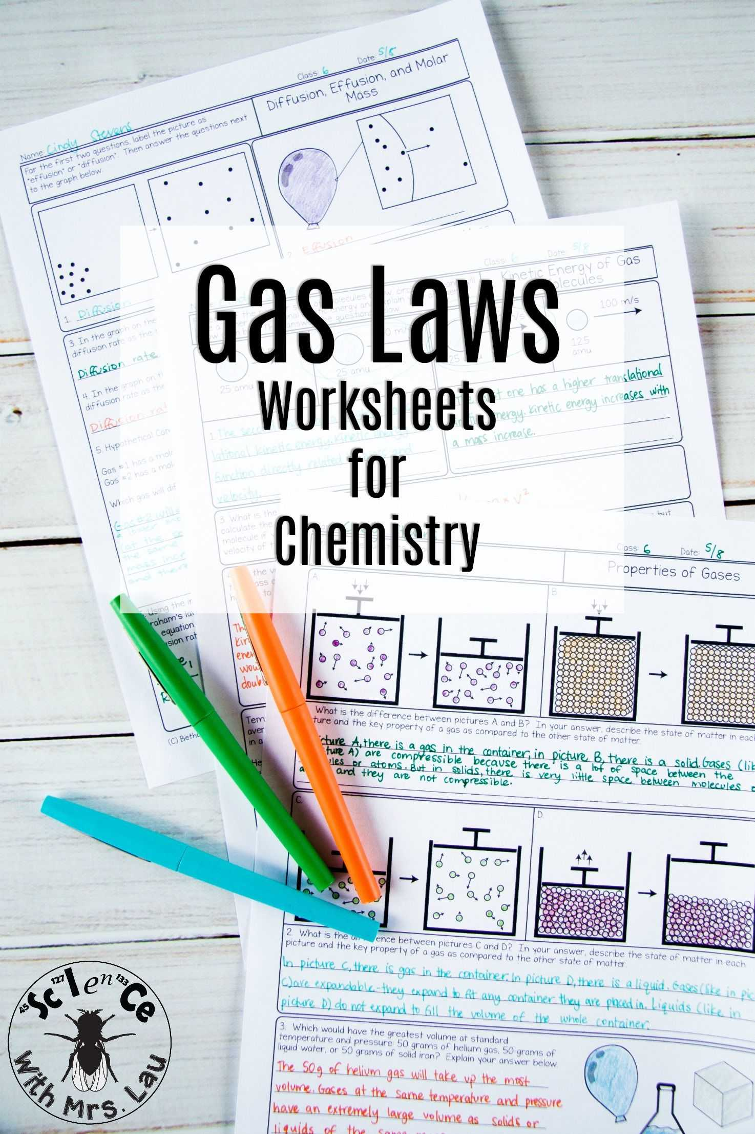 Staying On Task Worksheets Also Gas Laws Chemistry Homework Pages