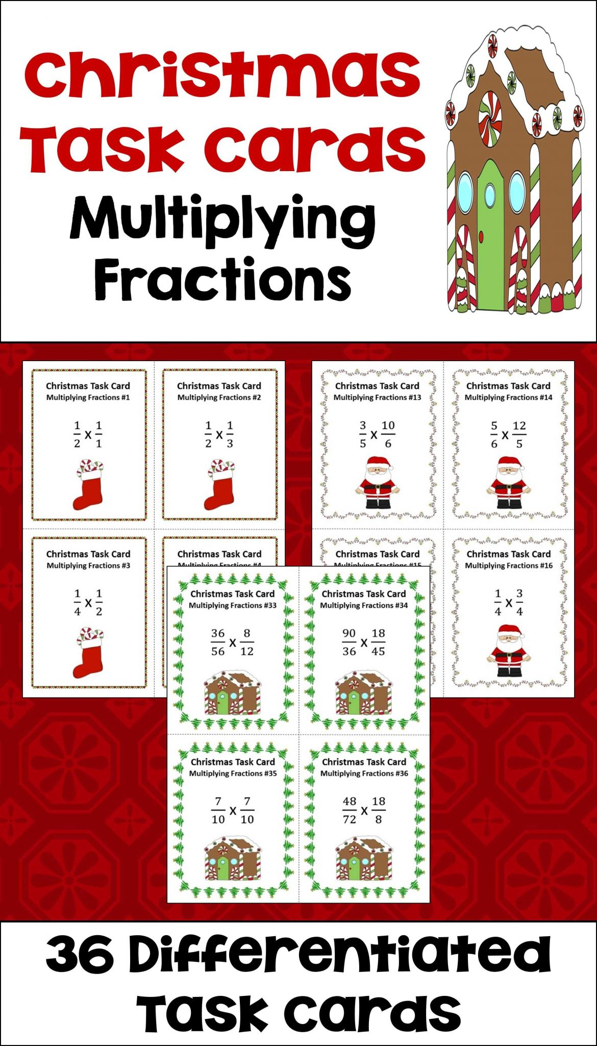 Staying On Task Worksheets together with Christmas Multiplying Fractions Task Cards Differentiated with 3
