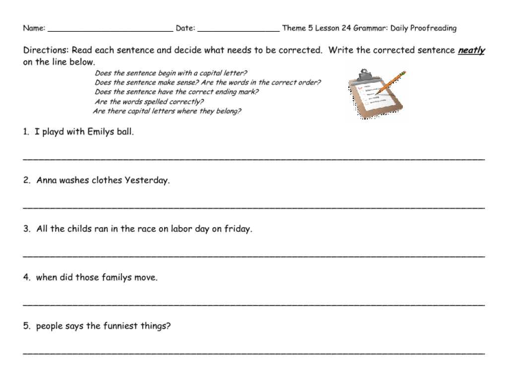 Stress Worksheets for Middle School as Well as Math Editing Writing Worksheets Proofreading Sentences Wor