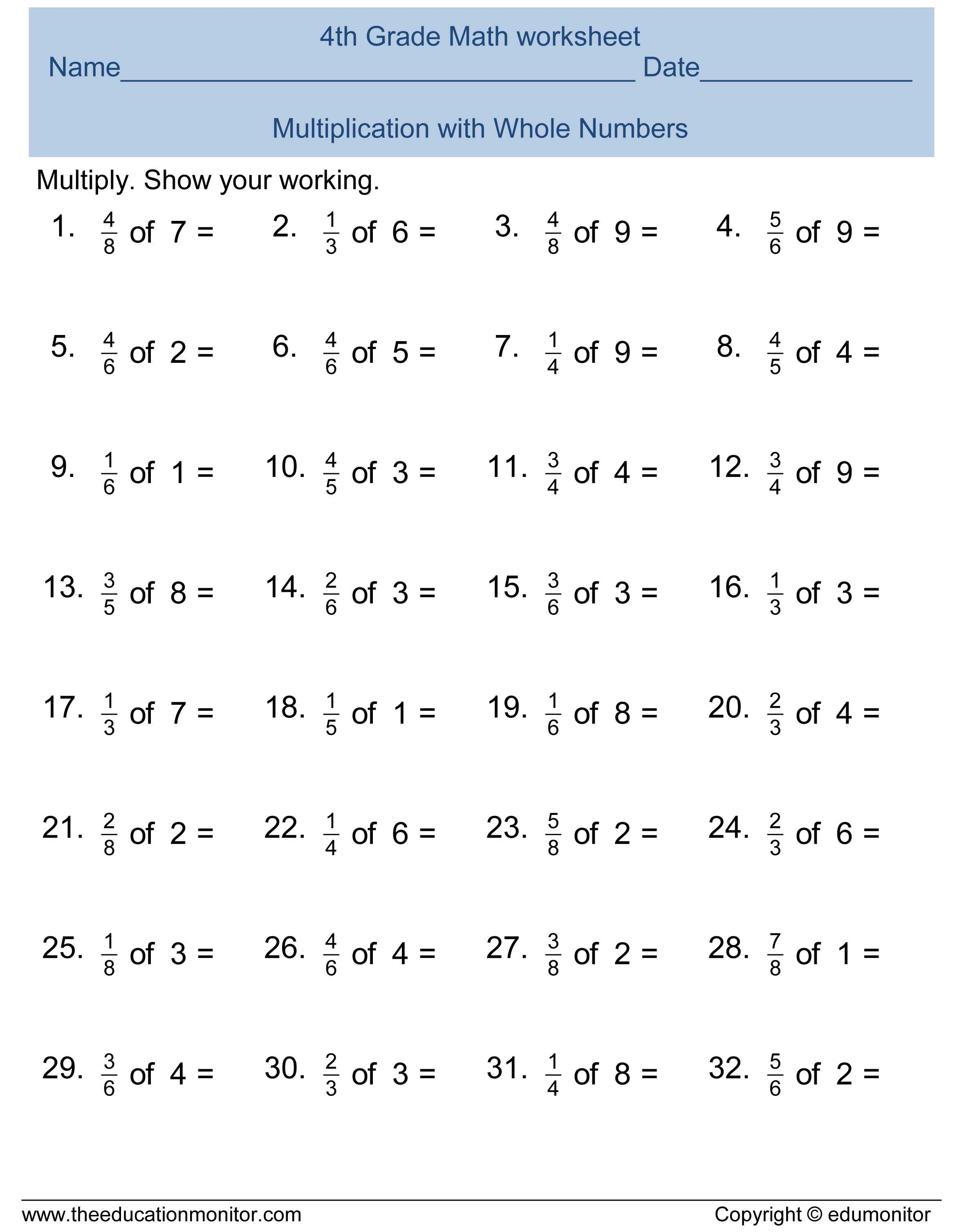 Subtracting Integers Worksheet Along with Fractions Adding and Subtracting Fractions Worksheets 4th Grade