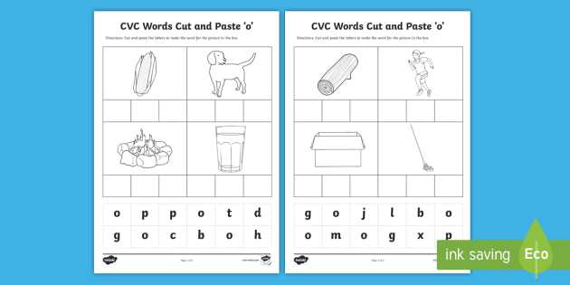Survival Signs Worksheets with Cvc Words Cut and Paste Worksheets O Cvc Worksheets Cvc Words