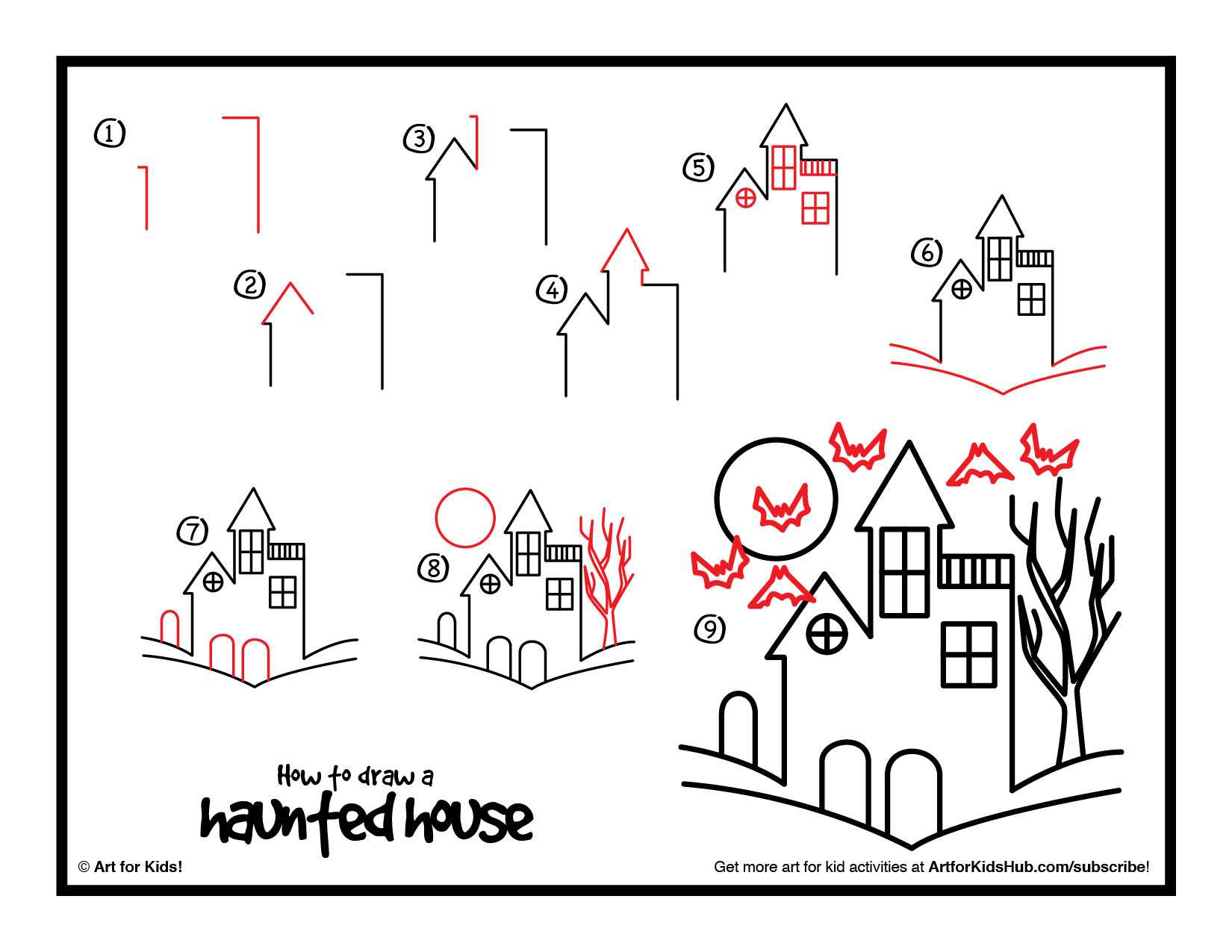 The Haunted History Of Halloween Worksheet Answers Also Houses for Kids Drawing at Getdrawings