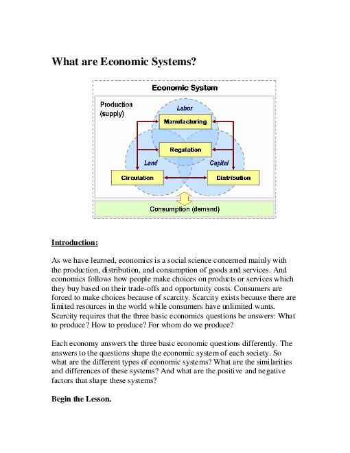 The Market Economy Worksheet Answer Key and 9 Best Economic Systems Images On Pinterest