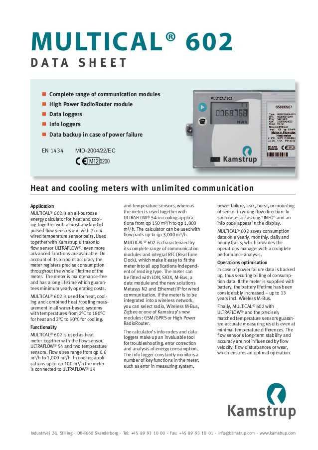 Thermal Energy Note Taking Worksheet Answers with Kamstrup Rhi Pliant Heat Meters & thermal Energy Measurement Mul…