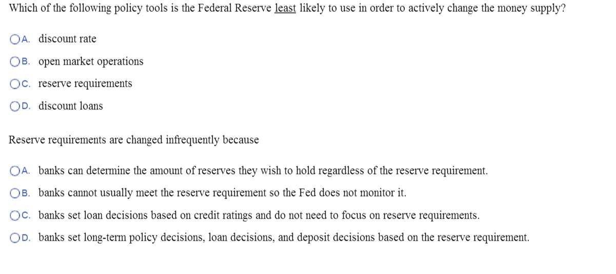 Tools Of the Federal Reserve Worksheet Answer Key Also solved Suppose the Required Reserve Ratio is and A Ba