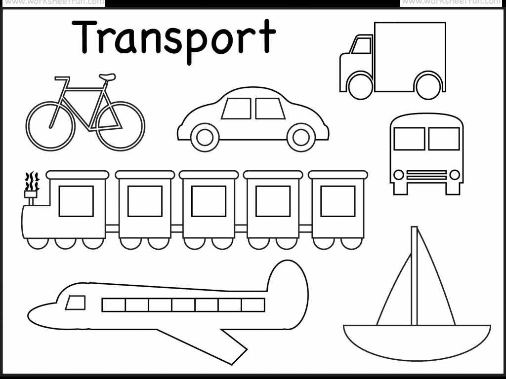 Transportation Worksheets for Preschoolers and with Transportation Coloring Pages for Preschool Coloring