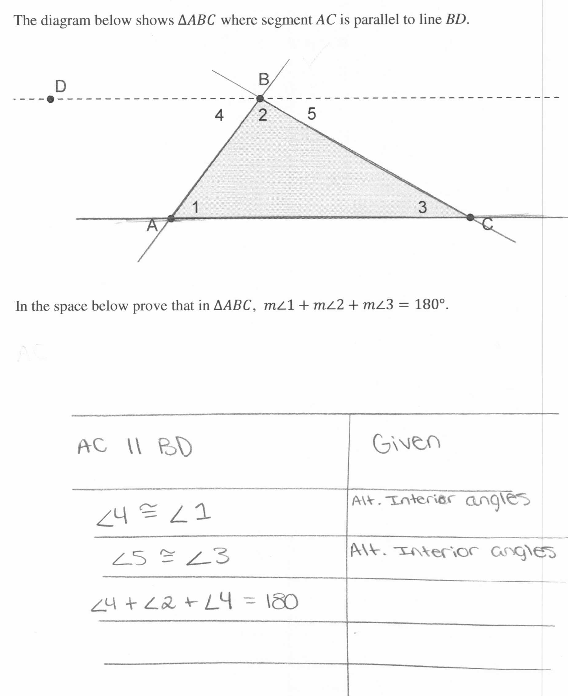 Triangle Angle Sum Worksheet Answer Key Also Triangle Sum and Exterior Angle theorem Worksheet Worksheet