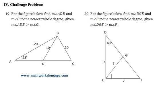 Trigonometry Worksheets with Answers with Example Challenge Problem From Worksheet Ambigious