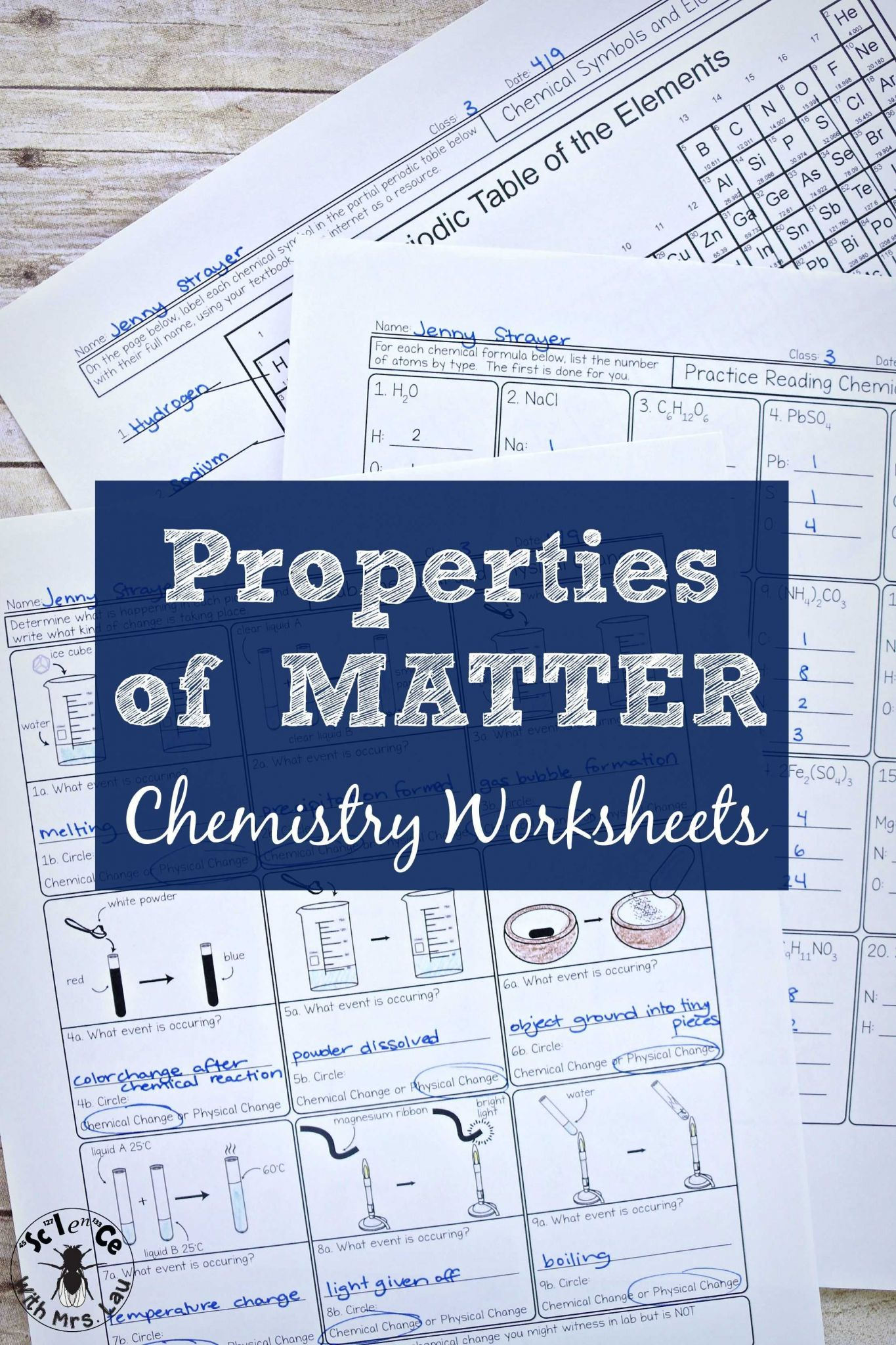 Types Of Chemical Bonds Worksheet as Well as Properties Of Matter Chemistry Homework Pages