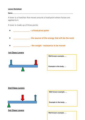 Types Of Levers Worksheet Answers and Gcse Pe Levers and Movement by Helen tonks Teaching Resources Tes
