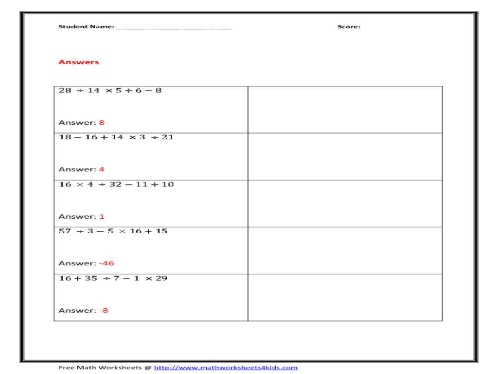 Understanding Percent Worksheet together with Colorful Math Worksheets order Operations with Exponents
