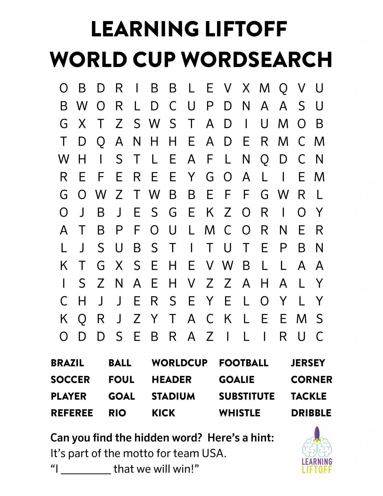 Unscramble Words Worksheets Pdf as Well as Printable World Cup Word Search Pinterest