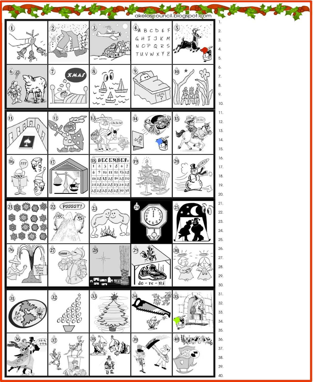 Unscramble Words Worksheets Pdf or Printable Guess the Christmas songs or Carols Word Puzzle