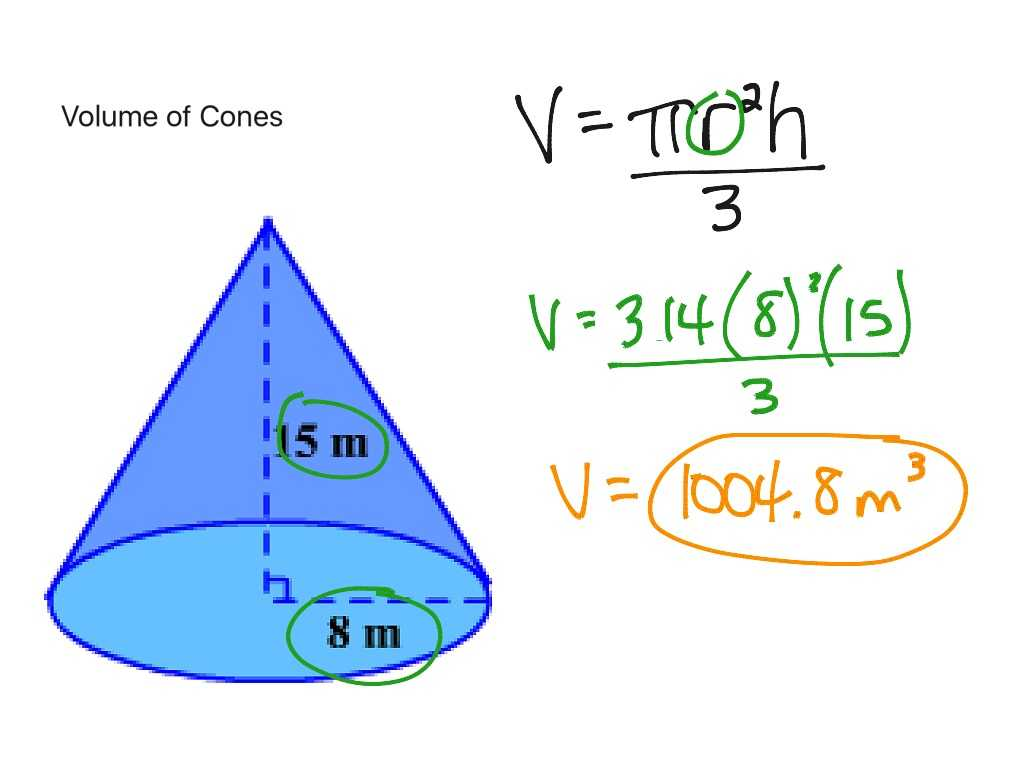 Volume Of A Cylinder Worksheet Pdf Also 92 A Volume Of Cones Math Showme