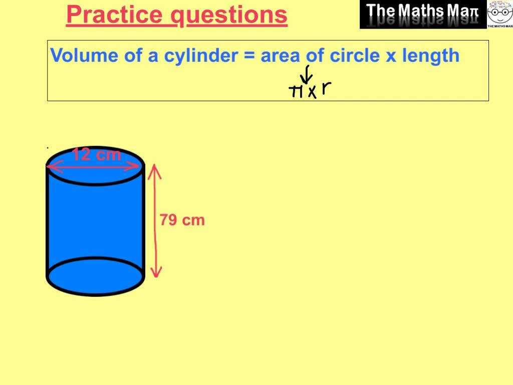 Volume Of A Cylinder Worksheet Pdf Also Volume Of A Cylinder Practice Questions and Answers Youtub