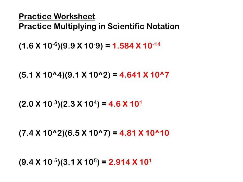 Worksheet 2 Scientific Notation Answers Also Scientific Notation Worksheet Instructional Fair Inc Kidz Activities