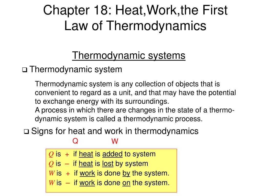Worksheet Heat and Heat Calculations or Ppt Chapter 18 Heatworkthe First Law Of thermodynamics