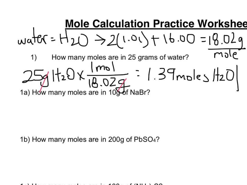 Worksheet Mole Problems Along with Mole Calculation Practice Worksheet astheysawit Free Sampl