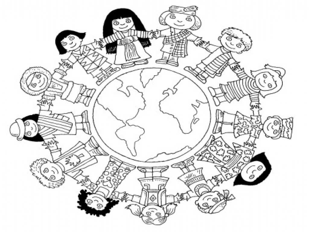 World Map Worksheet Also Diversity Coloring Pages Dnya Ocuk Gn Boyama Sayfalar Grig