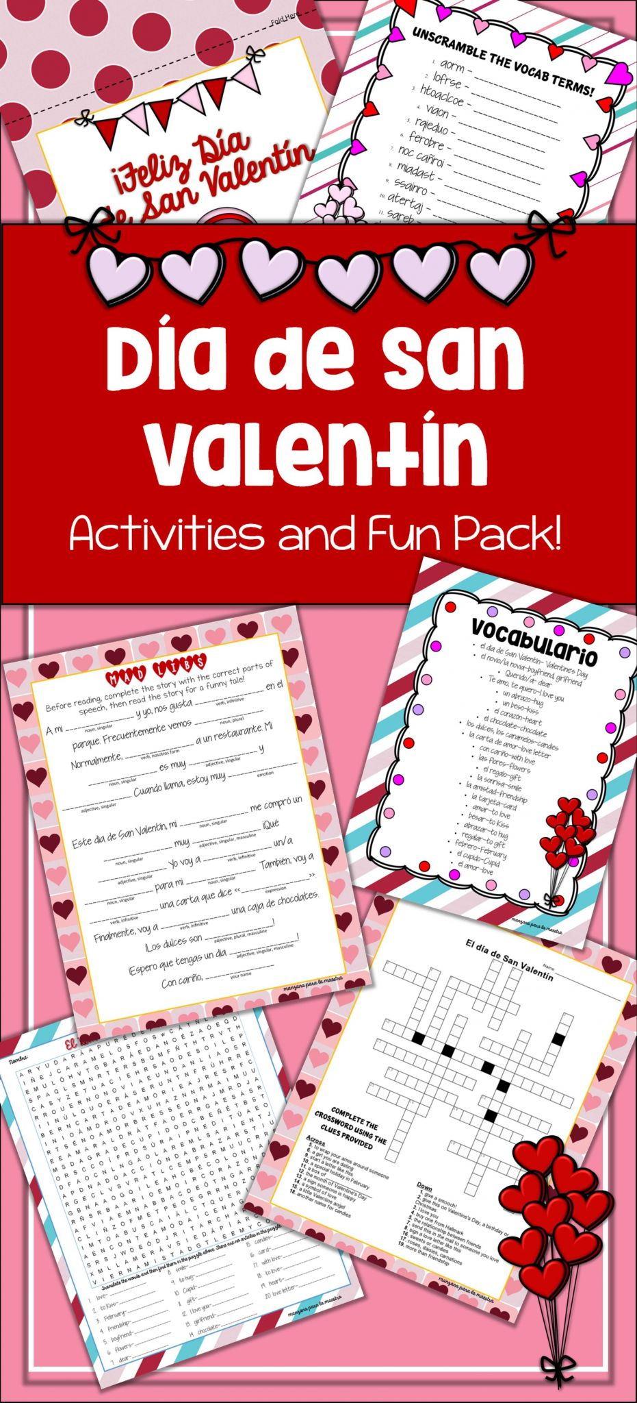 Adjectives Worksheet 3 Spanish Answers or D­a De San Valent­n Spanish Activities for Valentine S Day Lesson